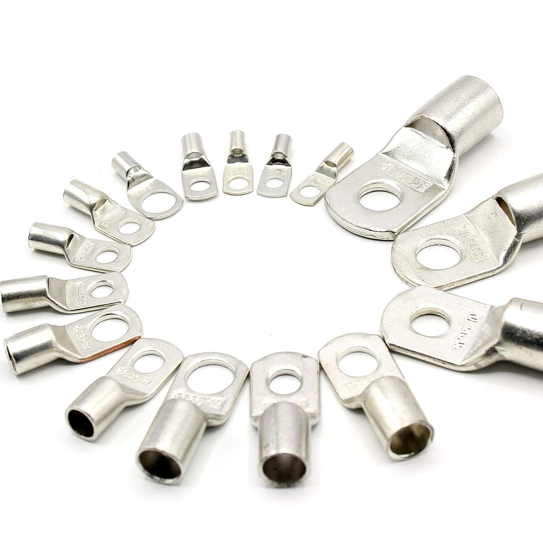 SC25-10 Cosse de c/âble 25 mm 2 trous /Ø M10 en cuivre /étam/é non isol/é