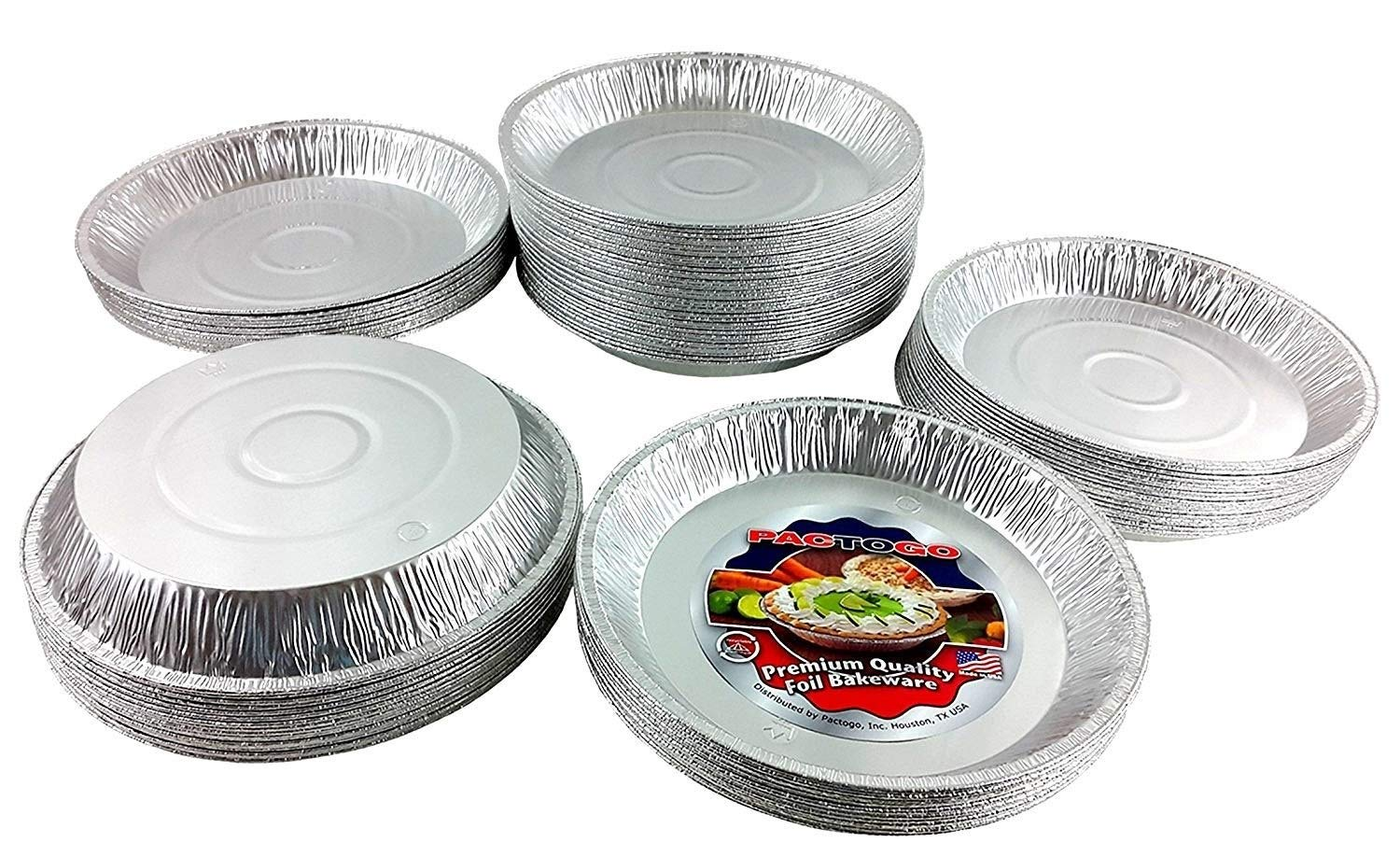 Pactogo 12'' Aluminum Foil Pie Pan Extra-Deep Disposable Tin Plates (Pack of 500) by PACTOGO (Image #1)