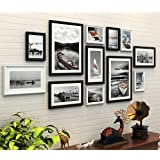 WollWoll European Classic Style Black and White Theme Scenery Photo Frame Set (175 cm x 1.6 cm x 70 cm)