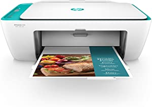 HP DeskJet 2640 All-in-One Wireless Color Inkjet Printer, Scan, Copy with HP Smart App, White/Teal, Y5H58A (Renewed)