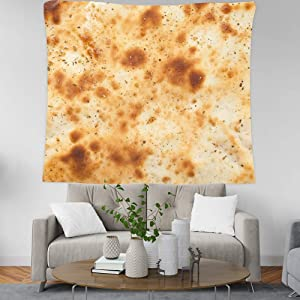 Burrito Tapestry Tortilla Tapestry Food Printed Wall Hanging Tapestries Funny Wall Tapestries (59x51 Inch, Y66)