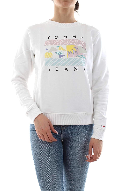 TALLA XS. Tommy Jeans Mujer Summer Logo  sudadera Manga Larga