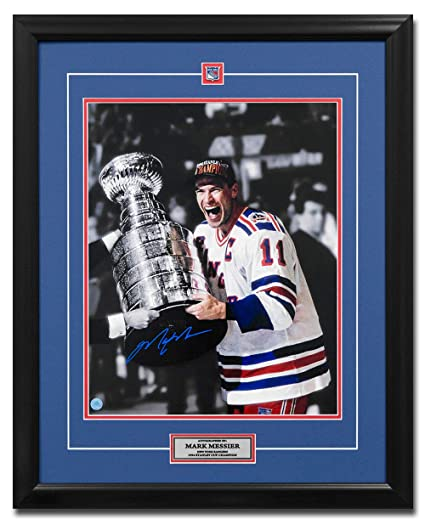 Mark Messier New York Rangers Autographed 1994 Stanley Cup Champion 25x31  Frame 661592ecf