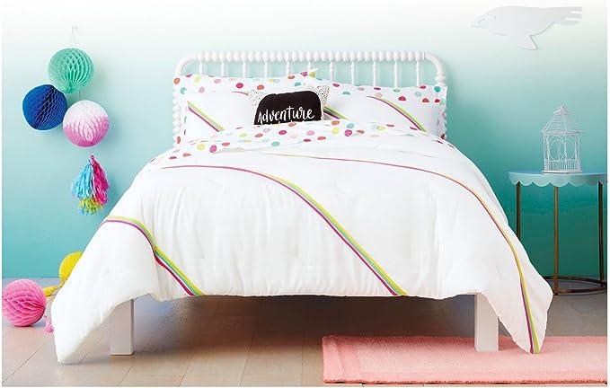 Pillowfort Twin Multi Stripe Reversible Comforter