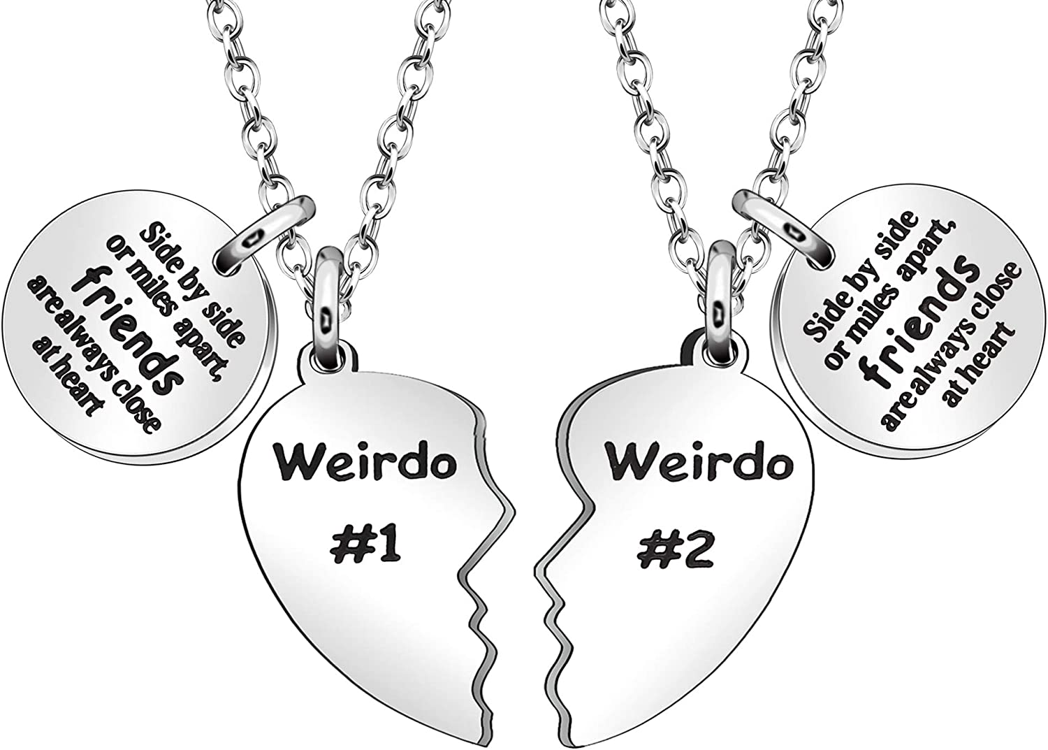 Granddaughter Necklace Set Silver Necklace Gift for BFF Daughter Gift Best Friend Gift Gift for Her Custom Necklace Gift Set