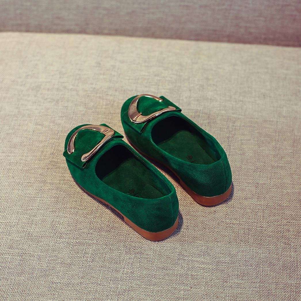Creazy Toddler Kids Girls Baby Beading Fashion Princess C-Button Sandals Single Shoes Red, 26