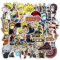 KOWASO 50Pcs Pegatinas Naruto para Laptop Anime Pegatinas Impermeables para Monopatín, Equipaje, Casco, Guitarra