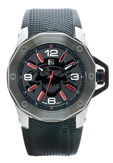 Quiksilver EQYWA00006BLK2T - Reloj para hombres, correa de poliuretano color negro