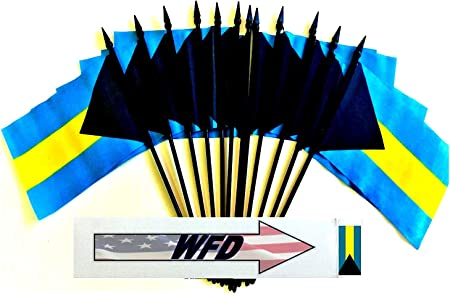 12x Bahamas Hand Table or Waving Flag Country Party Pack