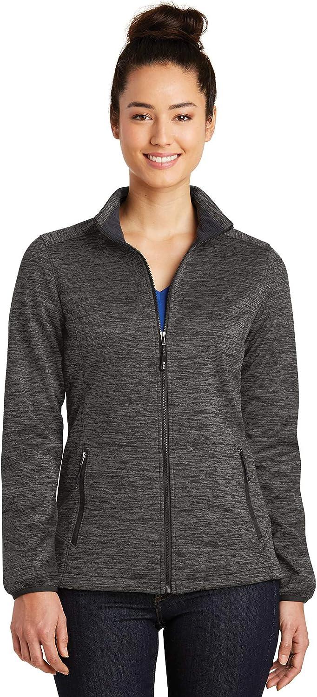 LST30 XXL Grey-Black Electric Sport-Tek 174 Ladies PosiCharge 174 Electric Heather Soft Shell Jacket