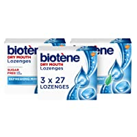 Biotène Dry Mouth Lozenges for Fresh Breath, Refreshing Mint, 27 count (Pack of 3)