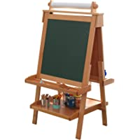 "KidKraft Deluxe Wood Easel-Natural, 48"""" x 24"""" x 25.5"""""" (62005)"