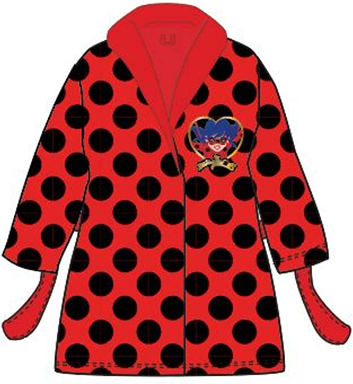 Jujak Miraculous Ladybug Dressing Gown Bathrobe Fleece