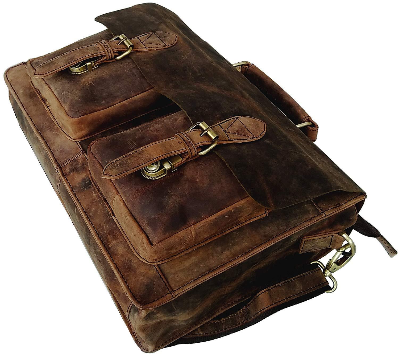 Cuero Retro Buffalo Hunter Leather Laptop Messenger Bag Office Briefcase College Bag (18 inch) by cuero (Image #5)