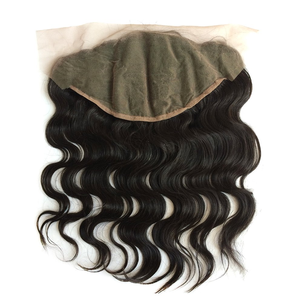 ZigZag Hair 13x6 Lace Frontal Closure Brazilian Virgin Human Hair Pre Plucked Natural Hairline Ear to Ear Full Lace Closure with Baby Hair Natural Color (20'', Body Wave) by ZigZag Hair (Image #1)