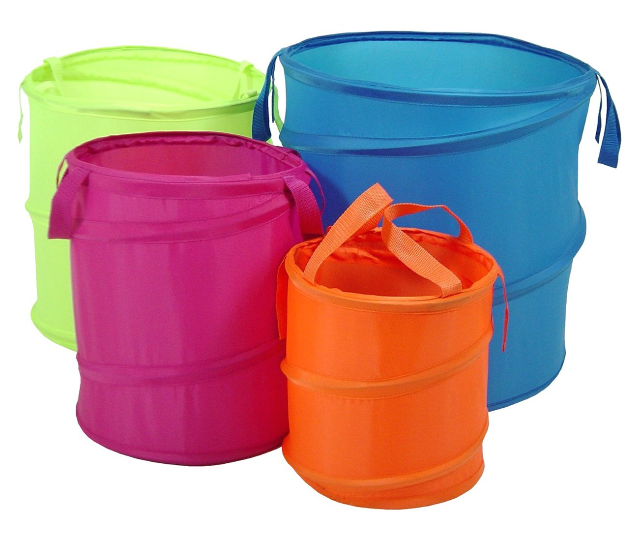Uncategorized Large Buckets amazon com bongo pop up buckets set of four home kitchen