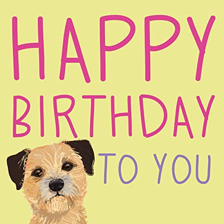 Border Terrier Waggy Tails Charity Birthday Card Amazon