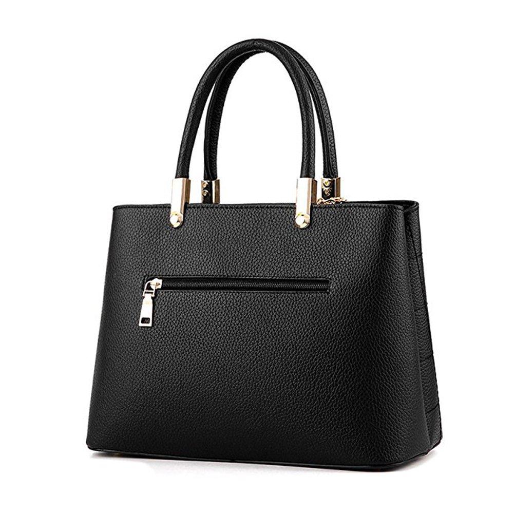 SUNROLAN Womens Top Handle Satchel Handbags Shoulder Bag Messenger Tote Bag Purse PU Leather
