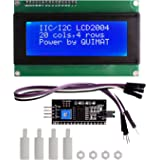 IIC / I2C / TWI LCD 2004/20 x 4 LCD Display 5V for Arduino UNO MEGA 2560 + 4Pin Jumper Cable + 4pcs Nylon Column with Nut Quimat