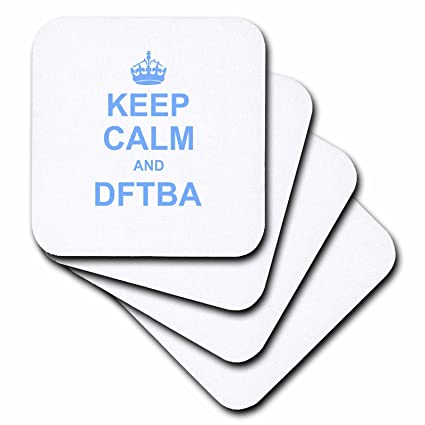 Buy 3drose Cst 157709 3 Keep Calm And Dftba Don T Forget To Be Awesome Nerdfighter Keep Calm And Carry On Meme Blue Ceramic Tile Coasters Set Of 4 Online At Low Prices In India