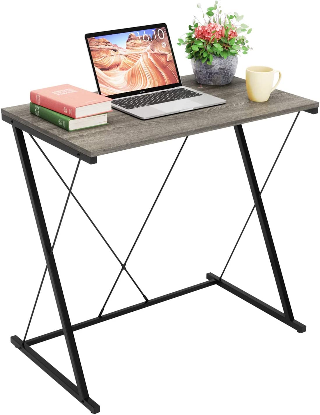 Domy Home Writing Computer Desk Simple PC Laptop Table Workstation for Home Office, Easy Assembly