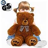 "Teddy Bear L-XXXL Size Colour Choice 1ft 8""/ 20 In/ 0.5m/ 50cm Kids Soft Plush Teddies Brown Big Large Giant Child Christmas Gift Toys Dolls"