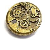 [UNATA.] 歯車 チャーム 大10個 アンティーク 時計 アクセサリー パーツ