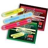 DAM Megalite bâtons lumineux à craquer pour pêche jaune fluorescent 100 pièces