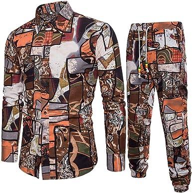 Mounter - Camisa Casual - Escotado por detrás - Animal Print - con Botones - Manga Corta - para Hombre Verde Caqui Medium: Amazon.es: Ropa y accesorios