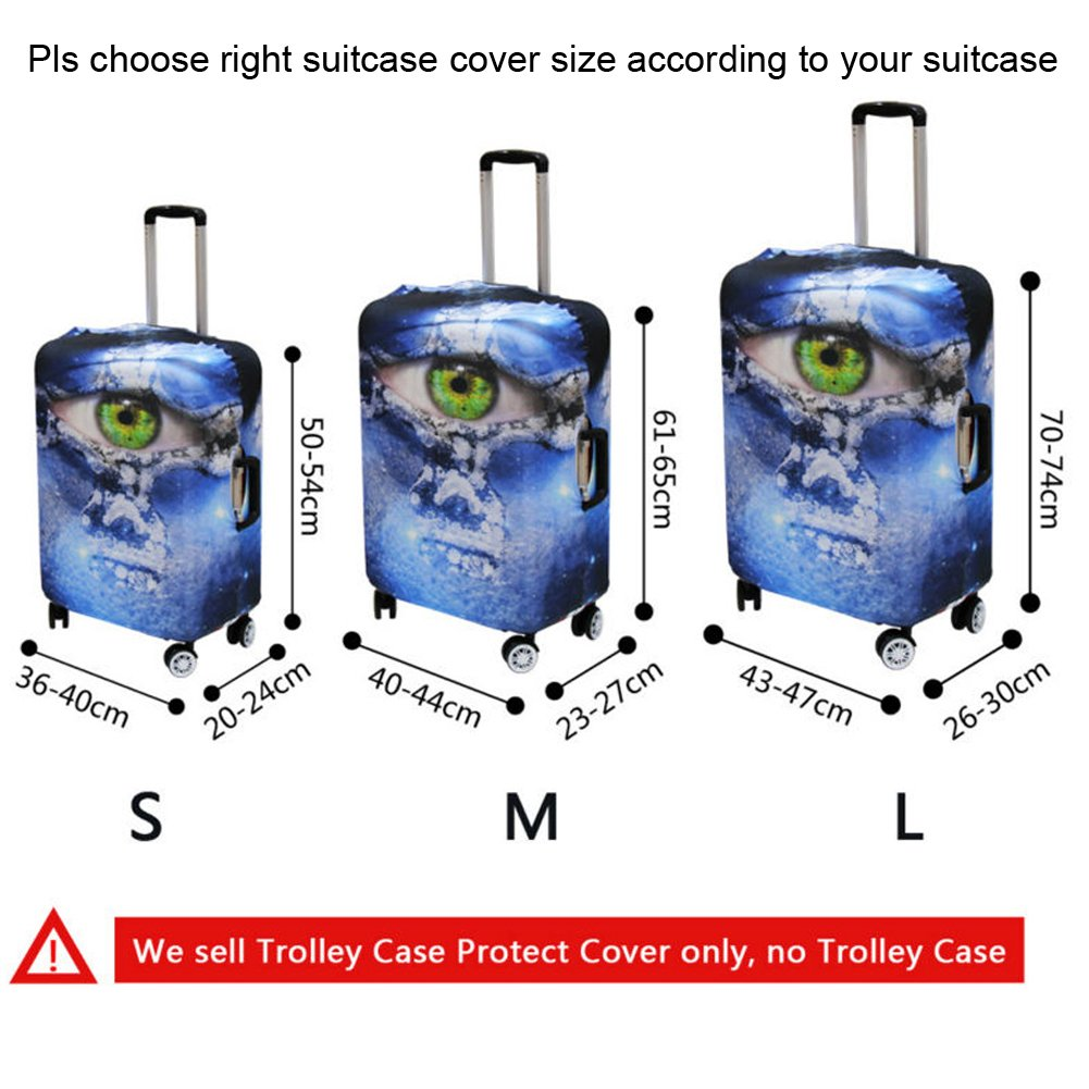 Coloranimal Travel Accessories Luggage Cover Sets 22-26 Inch Suitcase Suitcase Protector with Label Bulldog Design by Coloranimal (Image #3)