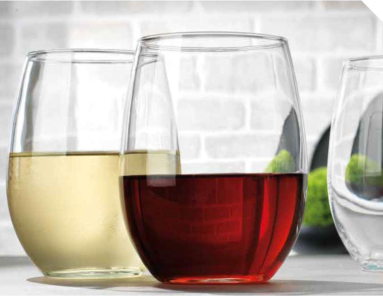 Home Essentials 3444 Modern Living Stemless Wine Glass, Set of 4, 20 Oz.