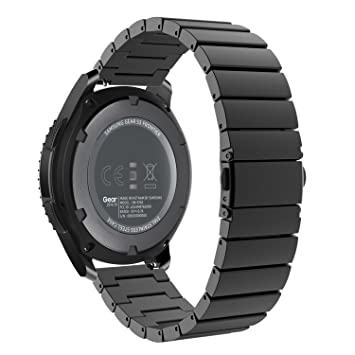 MoKo Gear S3 Watch Correa - Reemplazo de Acero Inoxidable Pulsera Strap Link Band para Samsung Gear S3 Frontier / S3 Classic/Moto 360 2nd 46mm ...