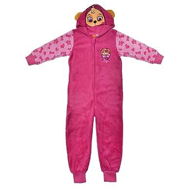 c8136313da9b PAW Patrol Supersoft Hooded Fleece Onesie Skye Pink Pyjamas PJs ...