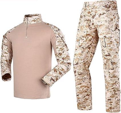 LANBAOSI - Conjunto de camisa y pantalones de combate tácticos ...