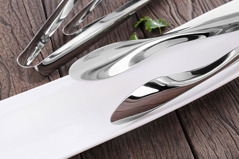 Set of 3 Artaste 43167 Rain 18//10 Stainless Steel Utility Tongs Silver