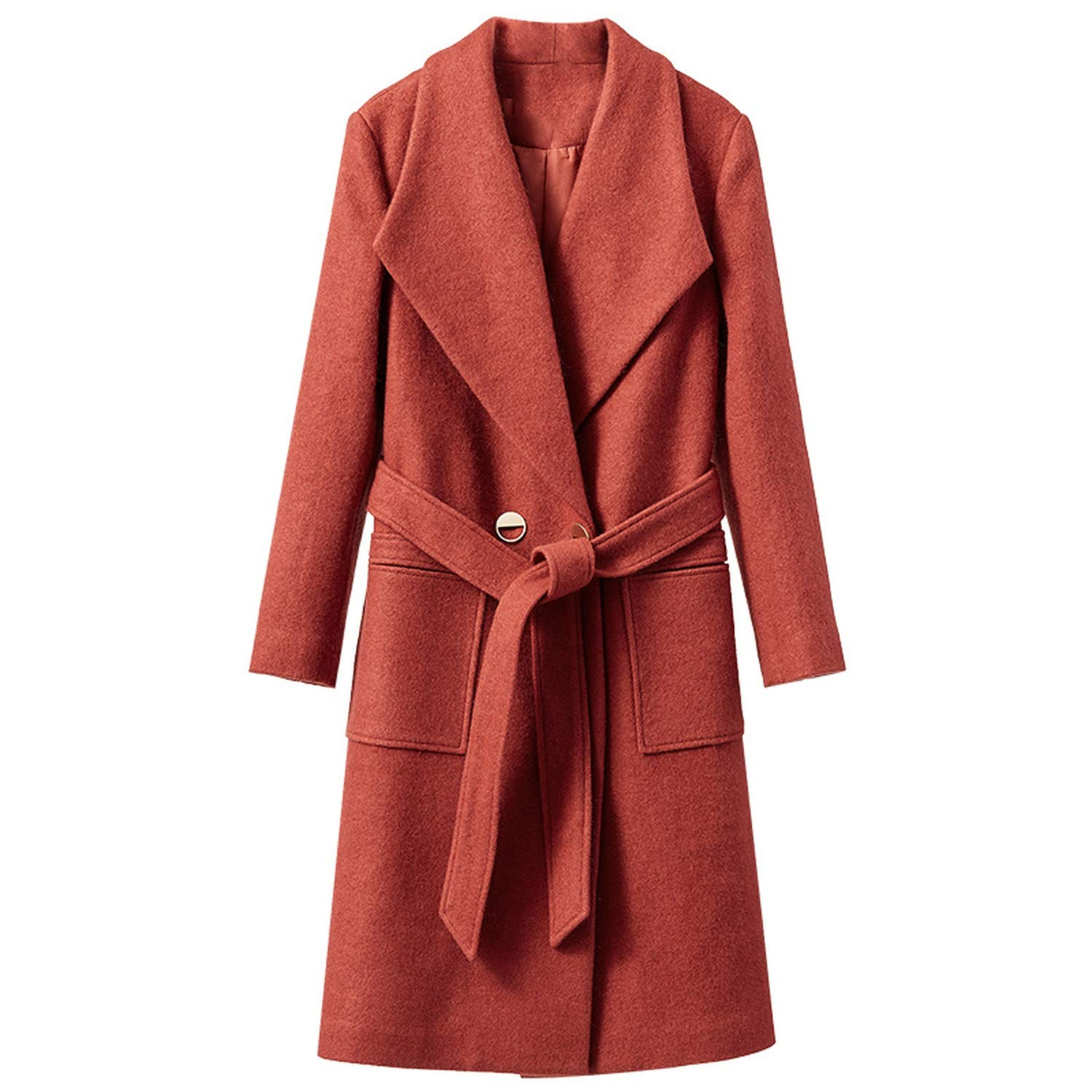 Amazon.com: Woolen Coat CoatsWoman Coat of Winter Double ...