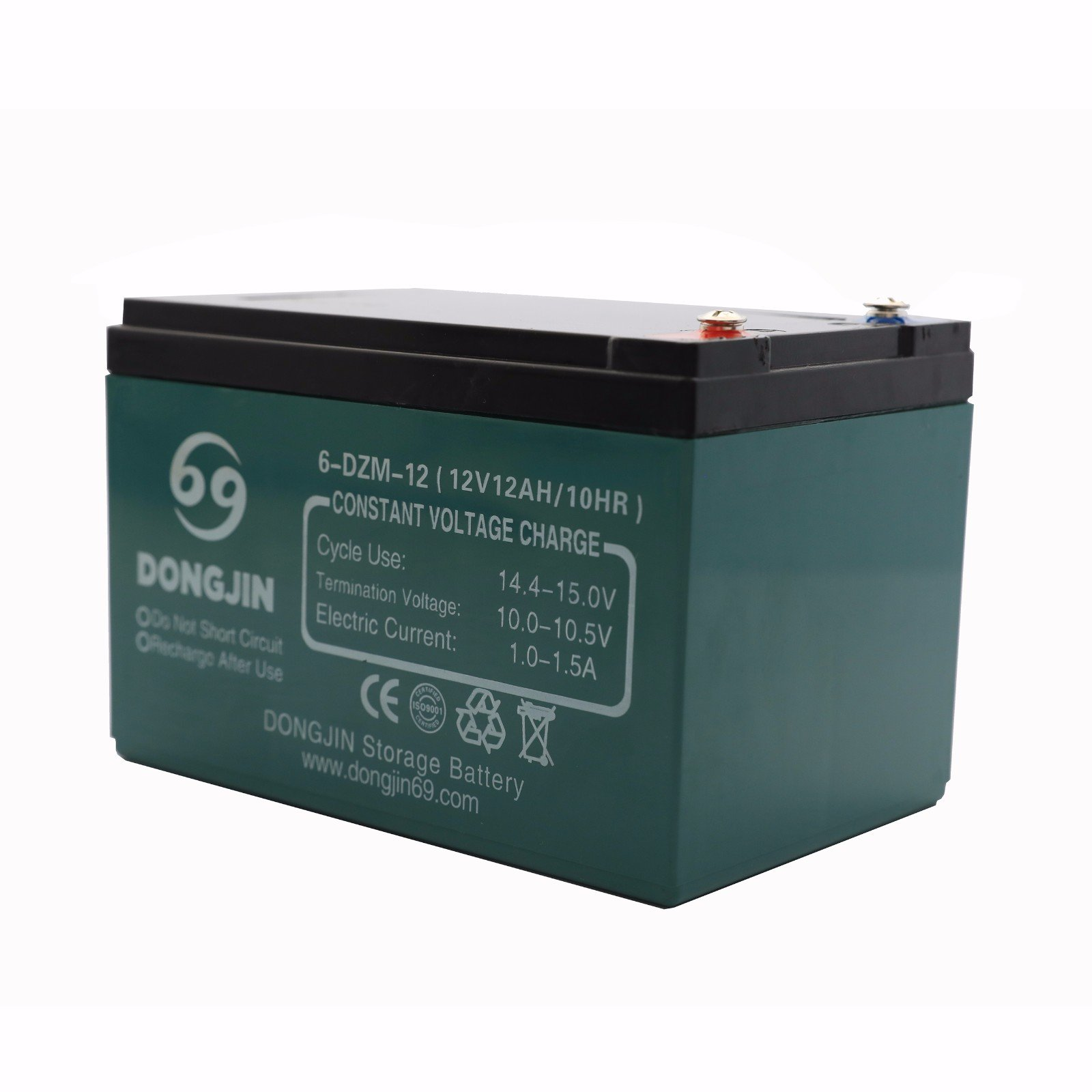 TDPRO 12V 12Ah 6-DZM-12 Rechargeable Battery for Electric Bike Scooter Go Kart
