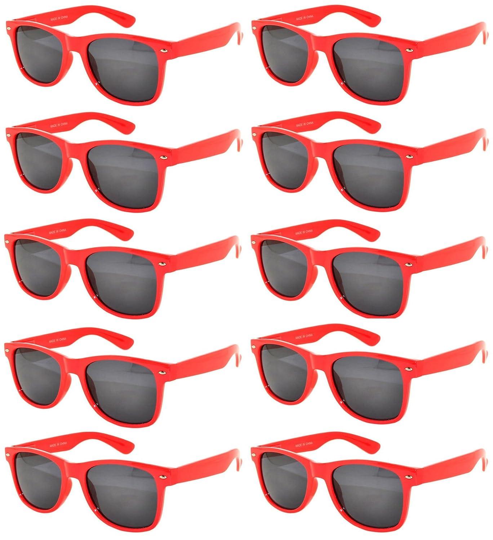 82092257d15 Amazon.com  Stylish Vintage Yellow Frame Eyeglasses Smoke Lens 10 Pairs OWL.   Clothing
