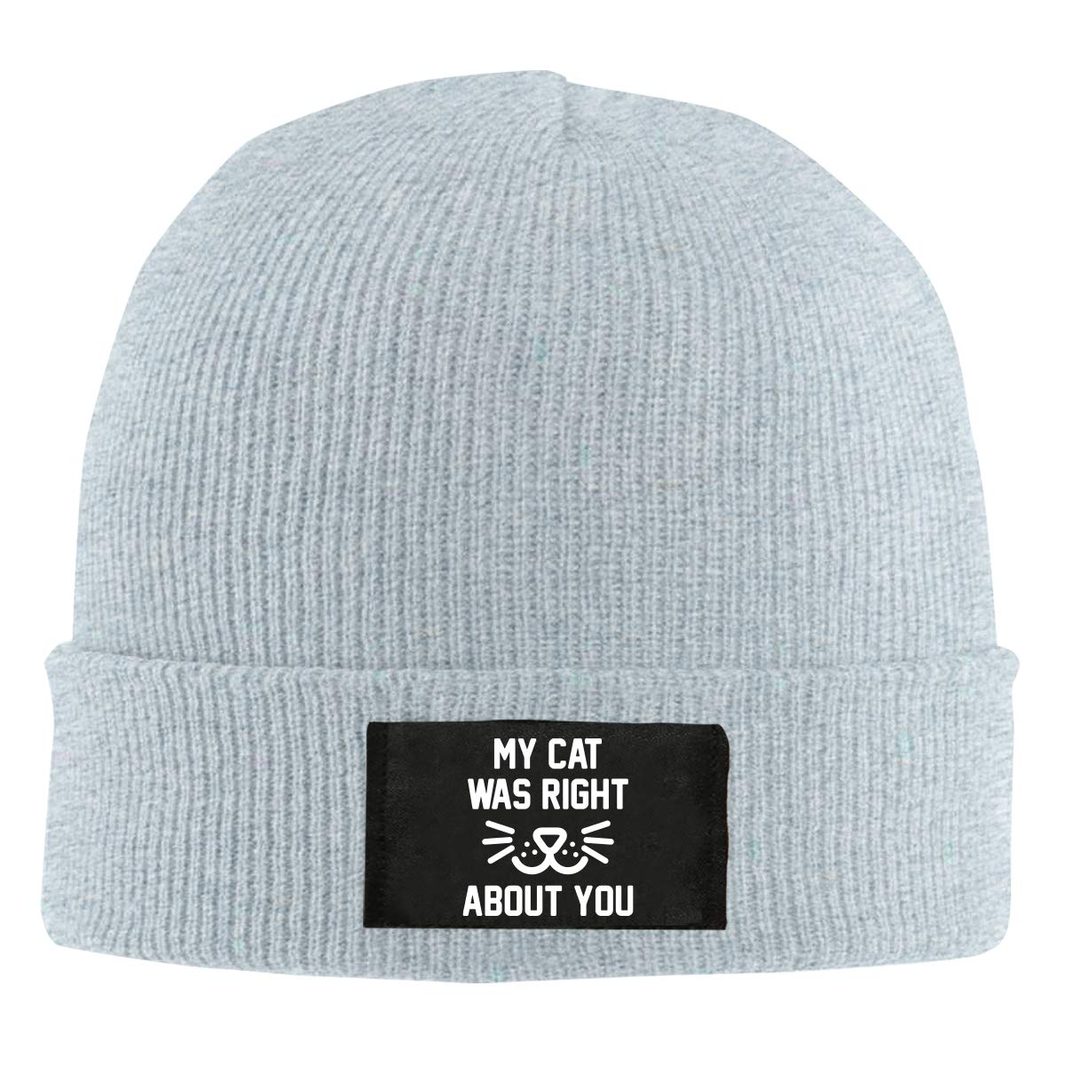 My Cat was Right 0 Men Women Knitted Hat Winter Warm Beanie Cap