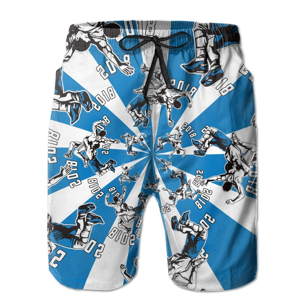 Cjhxqt American Wrestling Mens Boardshorts Swim Trunks Quick-Drying Running Shorts Mens Swim Trunks by Cjhxqt