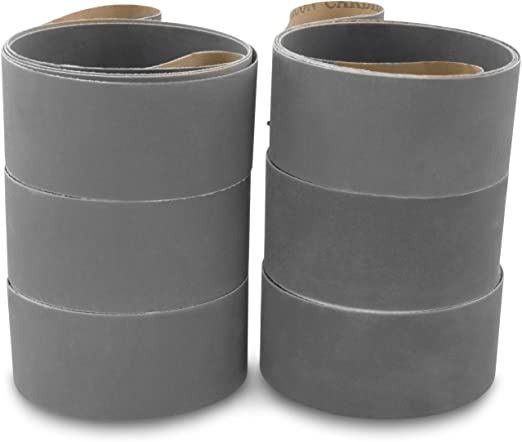 6 X 80 Inch 400 Grit Silicon Carbide Sanding Belts 2 Pack