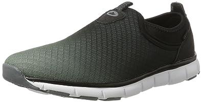 LICO Multi Slip en baskets en textile noir 73F3FOc