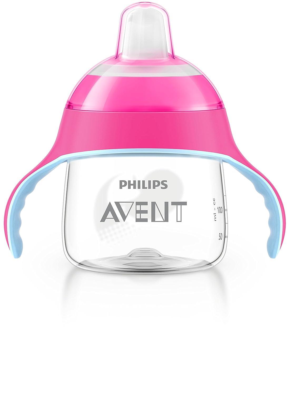 color azul 200 ml Philips Avent SCF751//05 dise/ño ping/üino para 6 meses Vaso con boquilla blanda