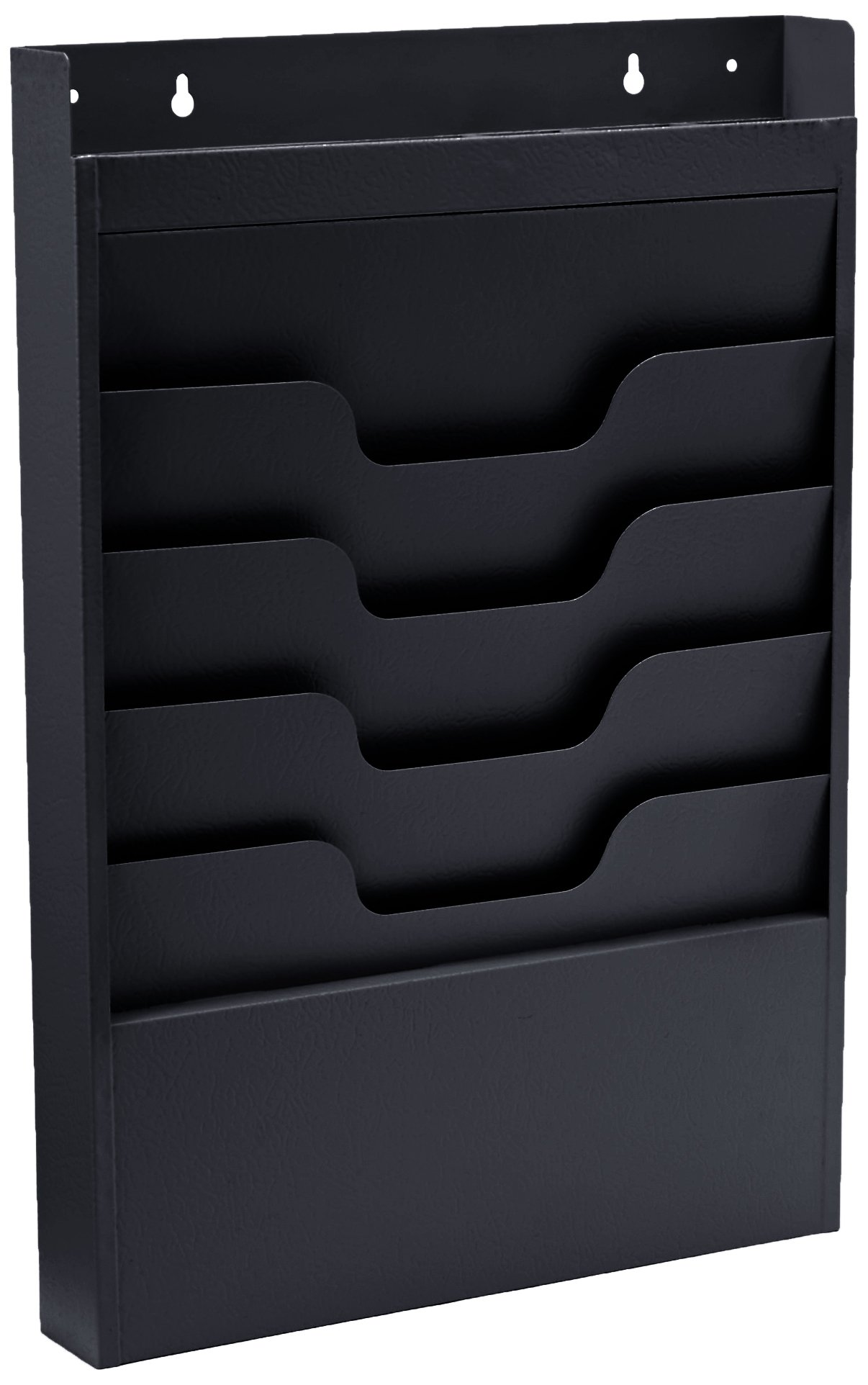Buddy Products Task File Organizer Rack, Steel, 4 Pockets, 2 x 19.75 x 13.5 Inches, Black (0841-4) by Buddy Products