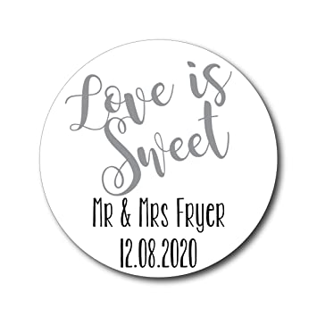 Image is loading Personalised-Wedding-Stickers-Labels-for-Candy-Buffet-Bags-