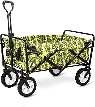 Carretilla de mano plegable multiusos Carretilla de mano plegable, carro de transporte Carro de jardín Carro de picnic 360 ° giratorio, Carro de camping, camuflaje: Amazon.es: Hogar