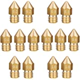 LEOWAY 14pcs MK8 Extruder Brass Nozzle for 3D Printer Makerbot with 7 Sizes 0.2mm, 0.3mm, 0.4mm, 0.5mm, 0.6mm, 0.8mm, 1.0mm (2pcs for Each Size)