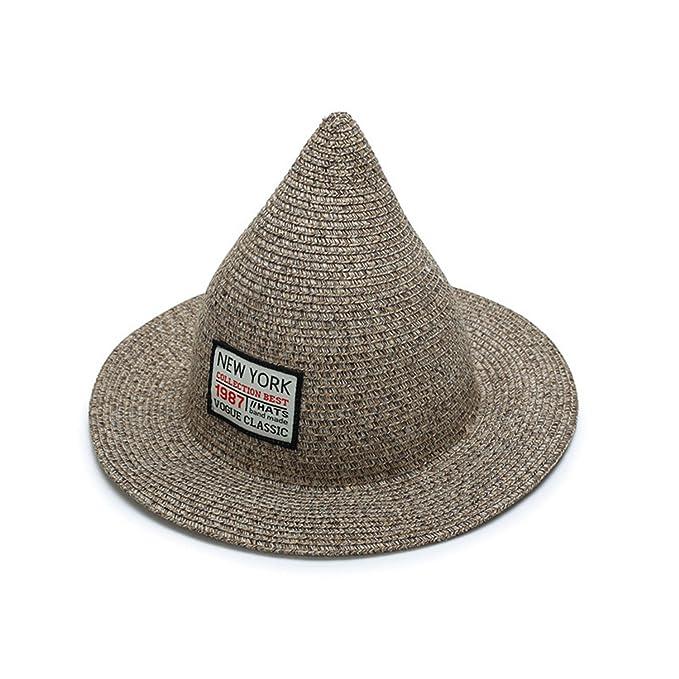 Amazon.com: JIANGTAOLANG Women Sun Hat Linen Straw Sea Beach Steeple Top Unique Summer Hats Gorras Girl Cap Sun Hat Black (7363042195831): Books