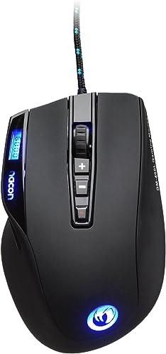 Nacon GM-400L – Ratón Láser de PC Gaming – USB Plug & Play 800 a 6000 DPI, Sensor Láser con 10 Botones