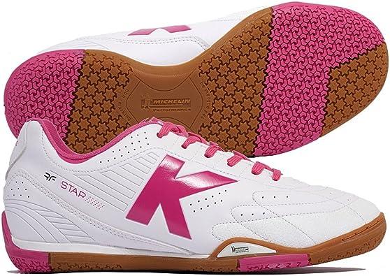 Kelme Hook RF, Zapatilla de fútbol Sala, Blanco-Rosa, Talla 9 US (42.5 EU): Amazon.es: Zapatos y complementos